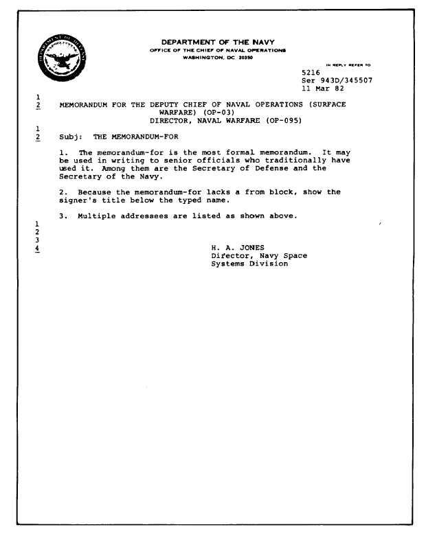 Standard Naval Letter Format Template