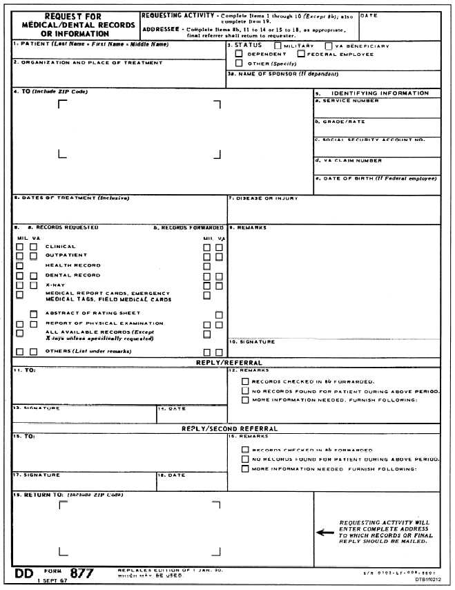 Figure 2-12.Request for Medical/Dental Records or Information, DD ...